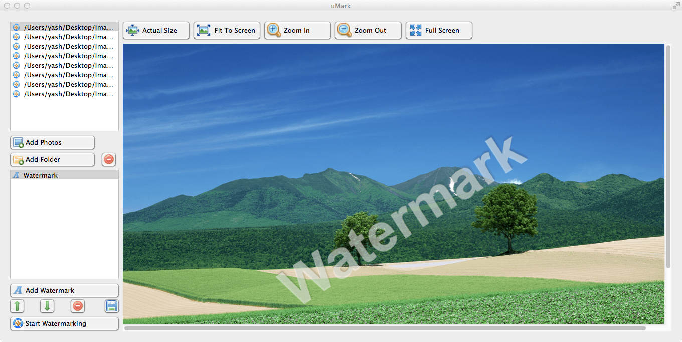 Batch photo watermark software add name/logo/copyright info as watermark easy Screen Shot
