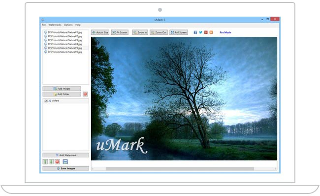 uMark - Batch Photo Watermark Software for Windows and Mac